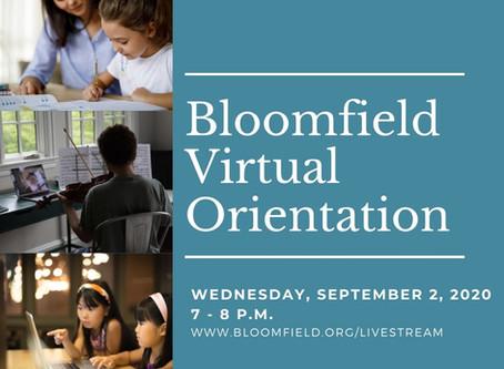Bloomfield Virtual Orientation