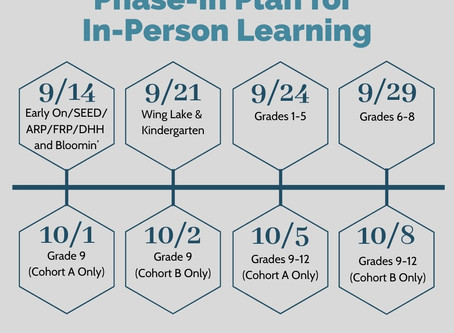 Phase-In Plan for In-Person Teaching and Learning