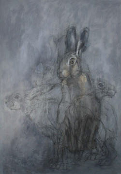 'Hare with Adonis Blue'