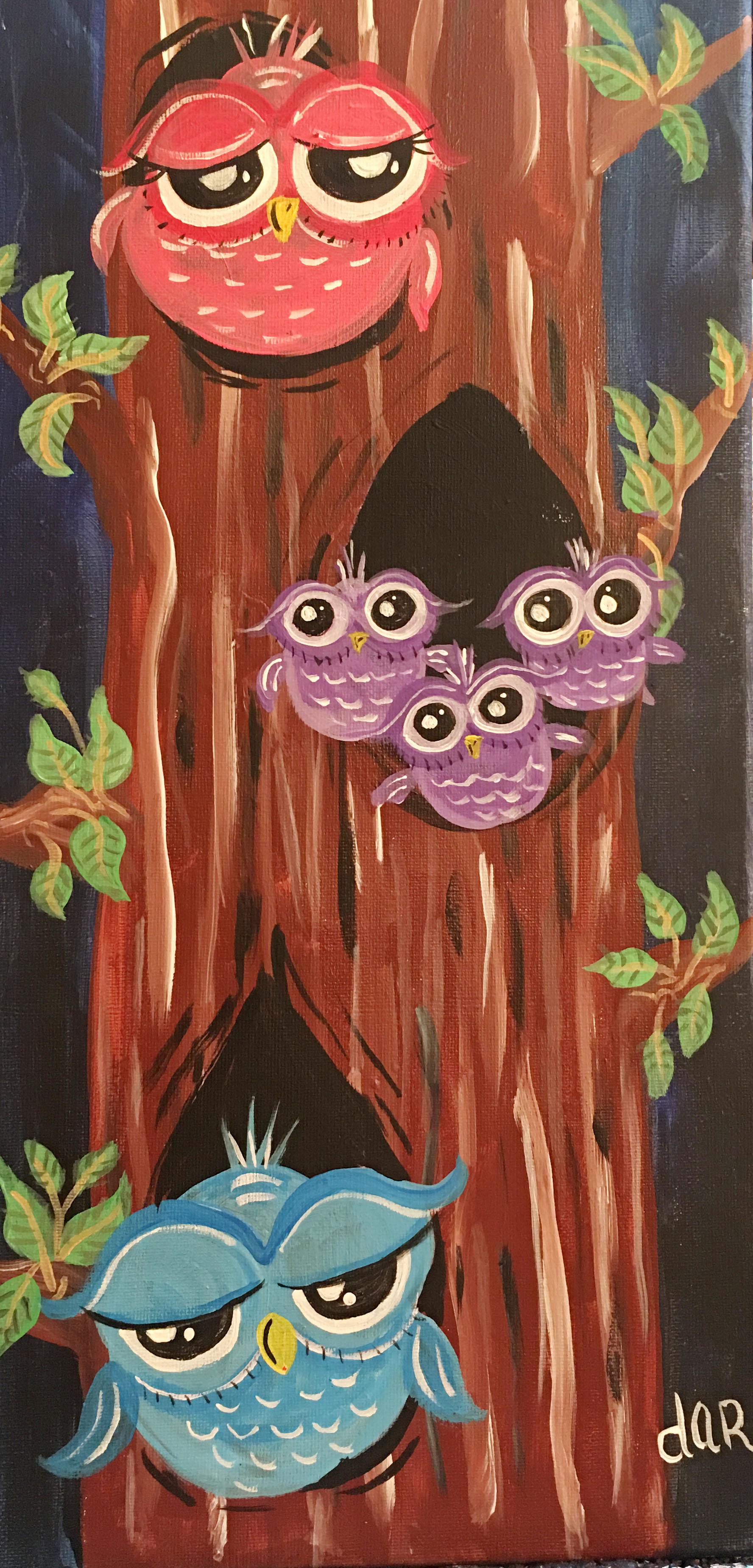 HOOTIE OWL FAMILY