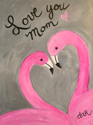 LOVE YOU MOM FLAMINGOS