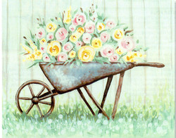 SOC ART WHEELBARROW PLANTER