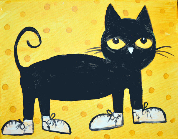 CAT WITH WHITE SHOES