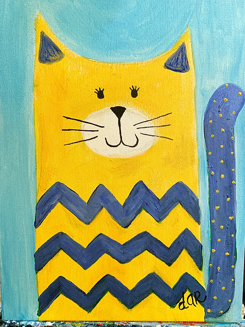 Dar's Cool Cats - Blue and Gold Create at Home Kit
