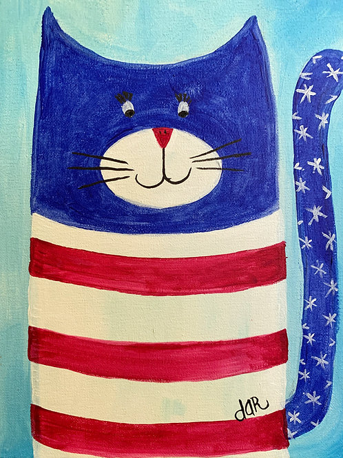 Dar's Cool Cats - Uncle Sam  Create at Home Kit