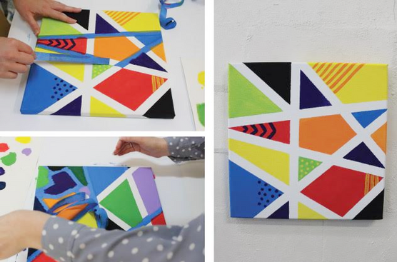 MASKED TAPE PAINTINGS