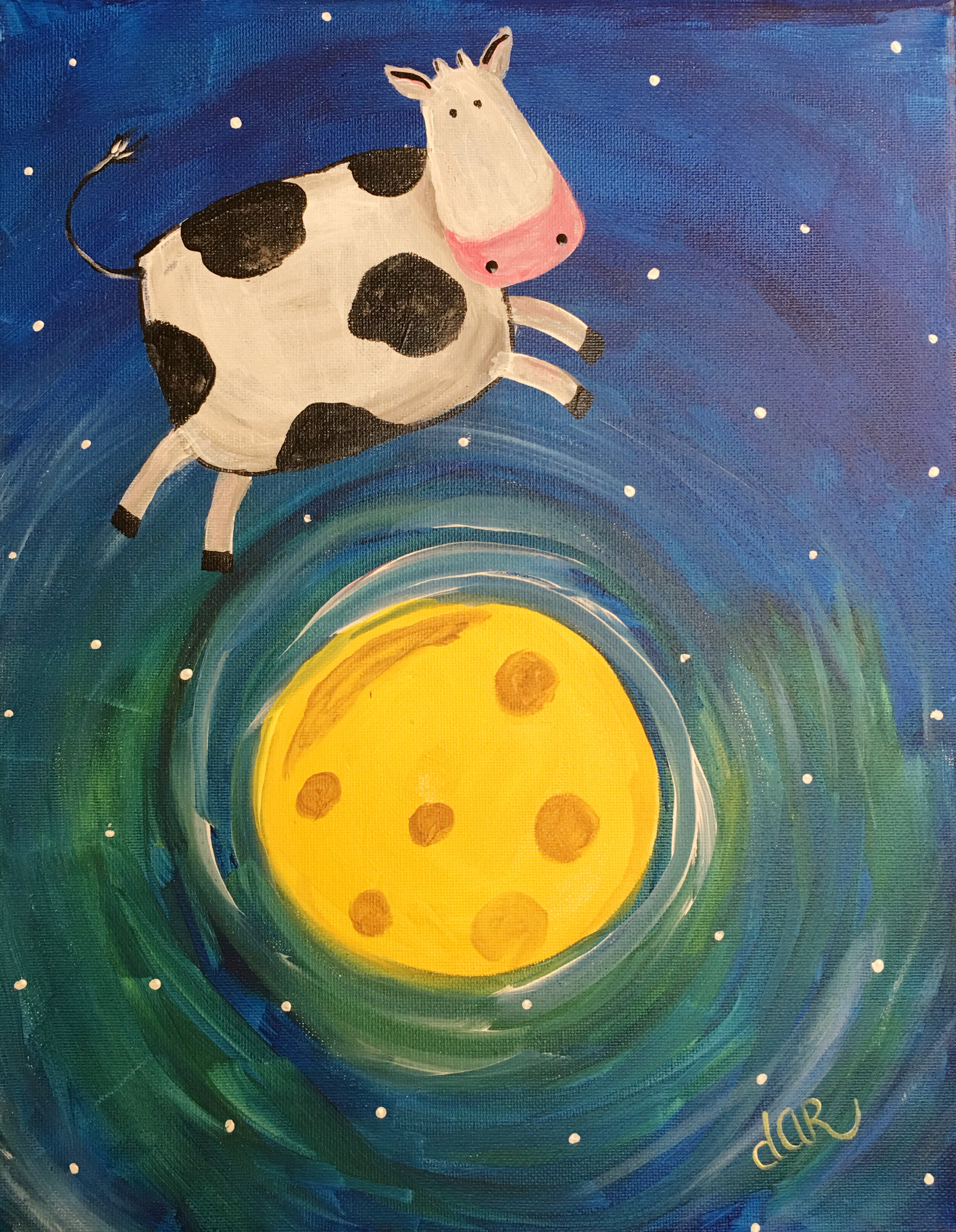 COW JUMPED OVER THE MOON