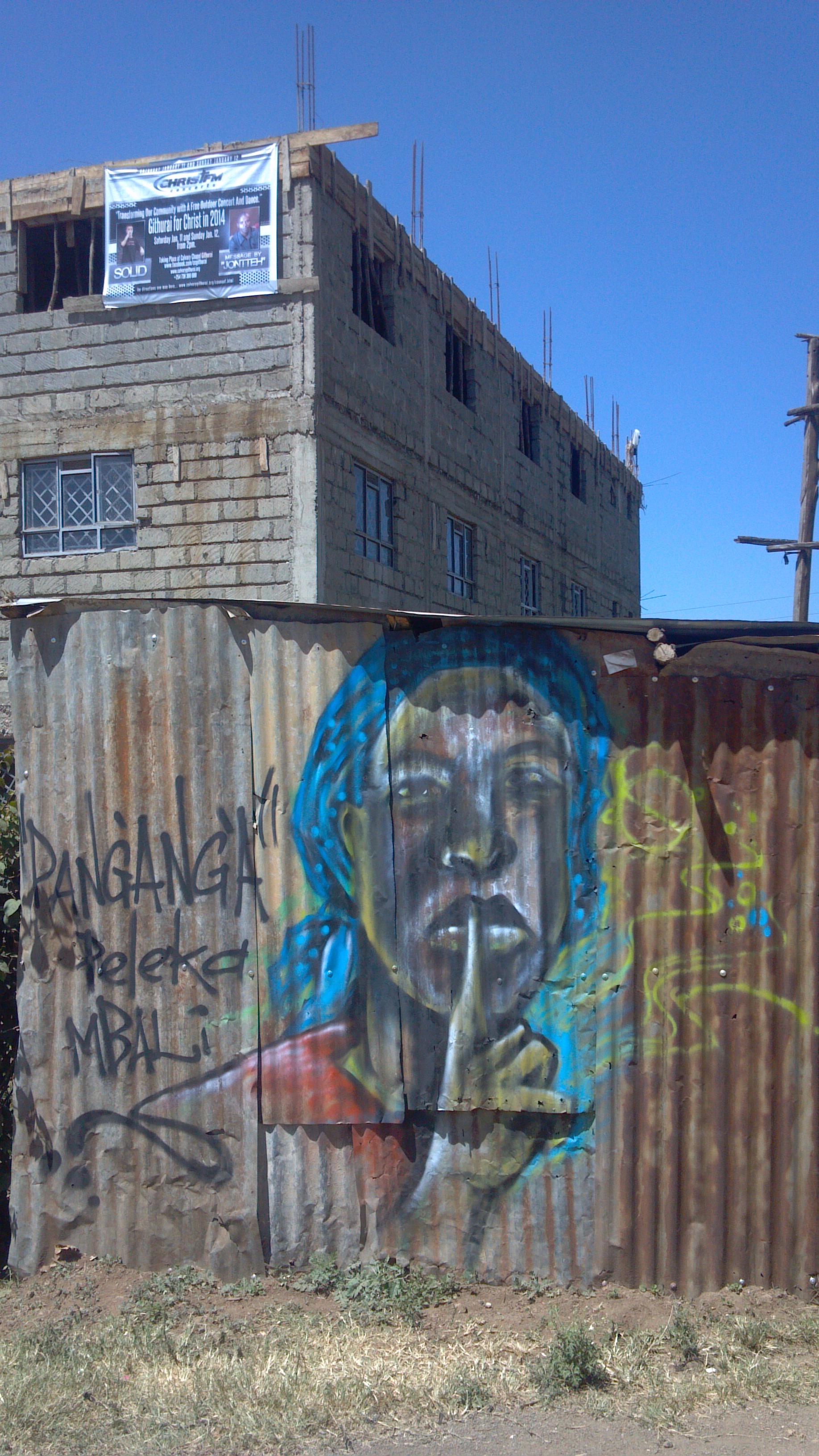 Street art in Githurai, Nairobi