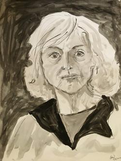 Covid Self Portrait, Barbara Wolanin