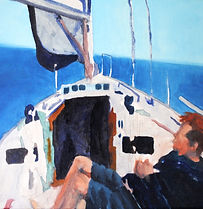 sailing painting biddeford pool maine