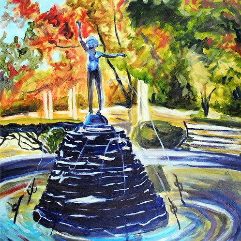 Village Fountain Print