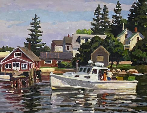 S Moore 16 x 20 Headed Out (Vinalhaven).