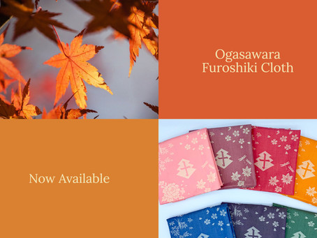 Ogasawara family crest furoshiki cloth is now available