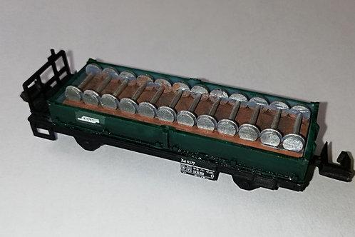 RhB Xel 9377, Transportwagen f. Vereina-Achsen