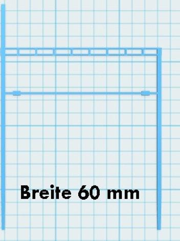 Mast mit Gitterträger Breite 60 mm