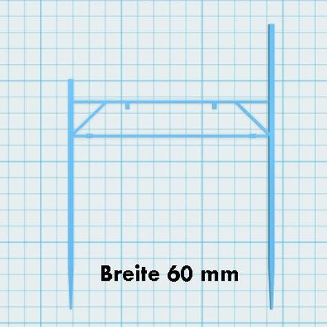 Mast Doppelspur Höhe 58 / 75 mm
