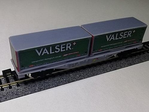 """RhB R-w 83xx mit 2 Wechselbehältern """"Valser"""""""