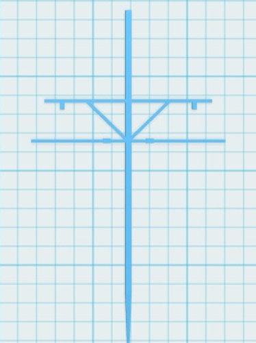 Mast mit Ausleger zweiseitig Höhe 75 mm