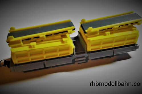RhB Xa-tu 93701-93704 gelb (H0m)