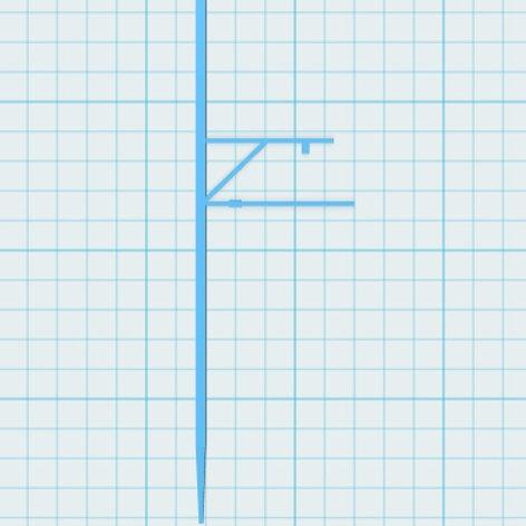 Mast mit Ausleger Höhe 75 mm