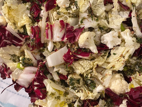 Napa Cabbage & Radicchio Salad