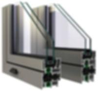κουφώματα ενεργειακά  αλουμινίου με θερμοδιακοπή