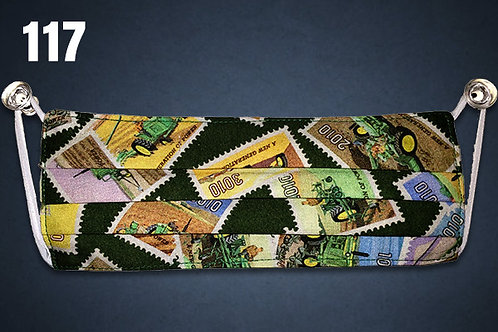 John Deere Stamp Collection Face Cover