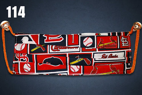 St Louis Cardinals Navy Accent Face Cover