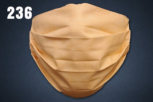 Peach Solid Face Cover
