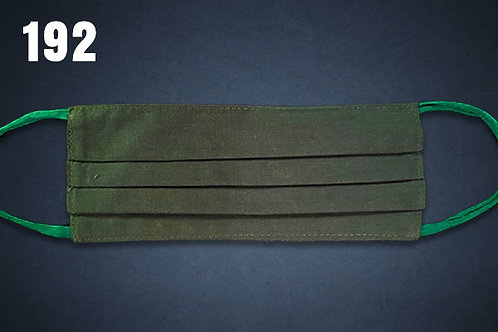 Dark Green Solid Face Cover