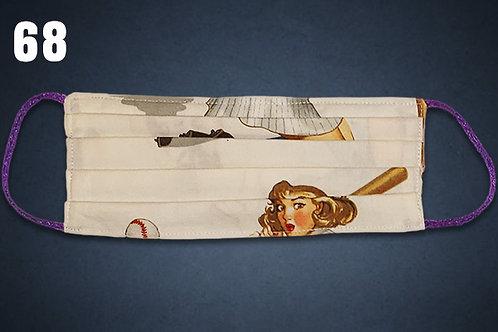 Lady Baseball Face Cover