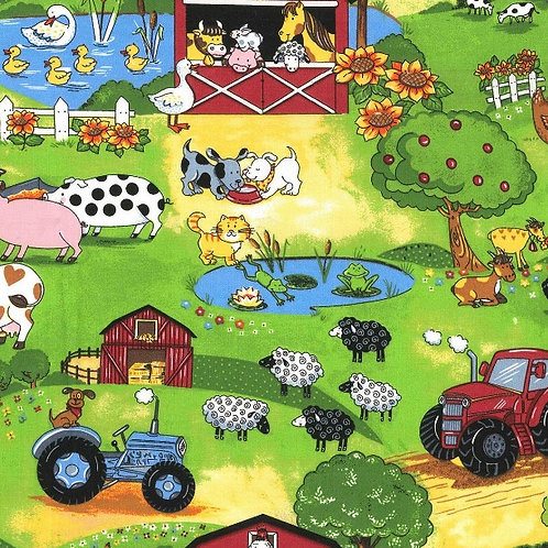 A Day At The Farm Face Cover