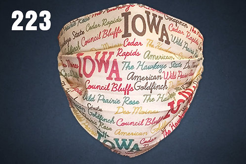 Iowa Pride Face Cover