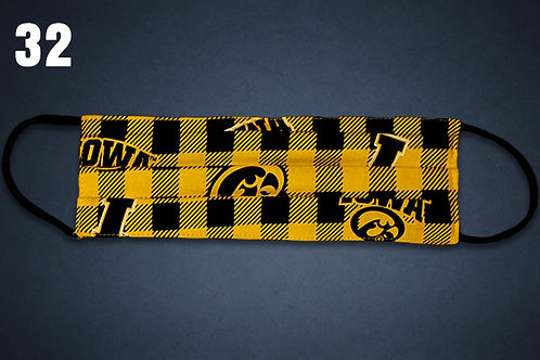 Iowa Hawkeyes Flannel Face Cover