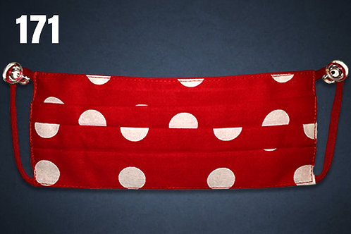 Red and White Polka Dots Face Cover