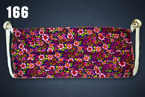 Pink Flowers on Purple Face Cover