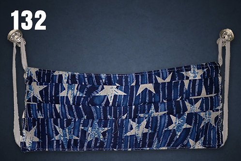 Blue Stars and Stripes Face Cover