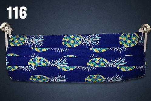 Royal Hawaiian Pineapple Face Cover