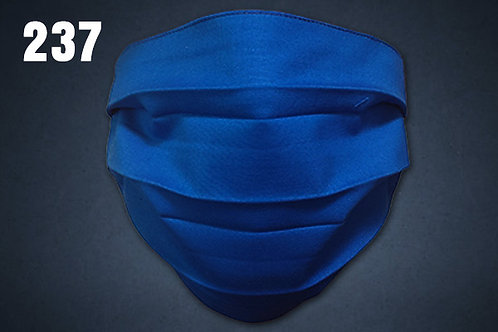 Royal Blue Solid Face Cover