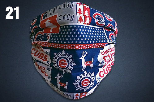 Christmas Chicago Cubs Face Cover
