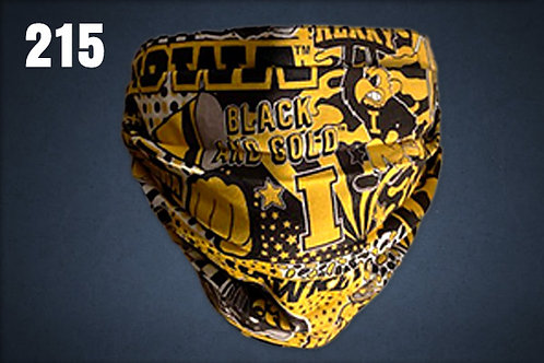 Iowa Hawkeyes Black & Gold Forever Face Cover