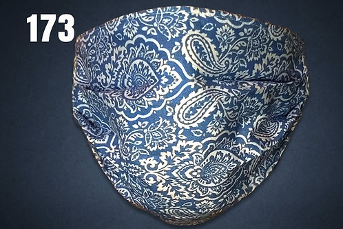 Blue and White Paisley Face Cover