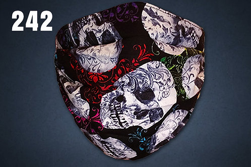 Paisley Skulls Face Cover