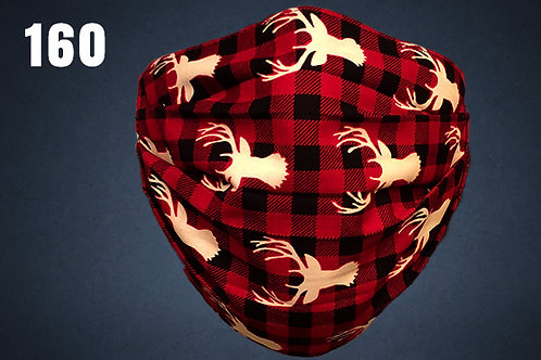Trophy Buck Plaid Face Cover