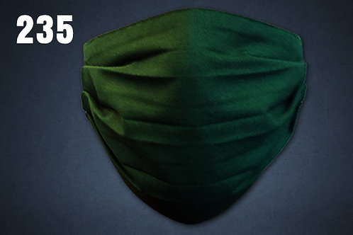Forest Green Solid Face Cover