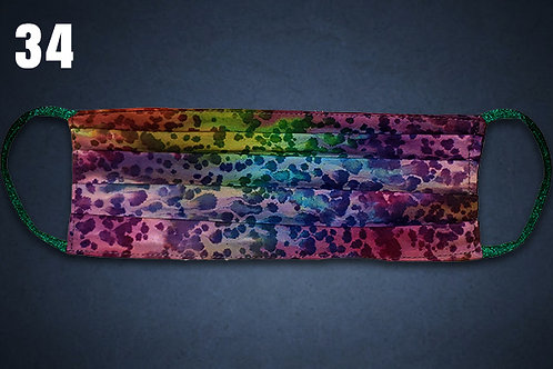 Rainbow Water Drops Face Cover