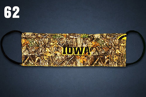 Iowa Hawkeyes Camo Face Cover