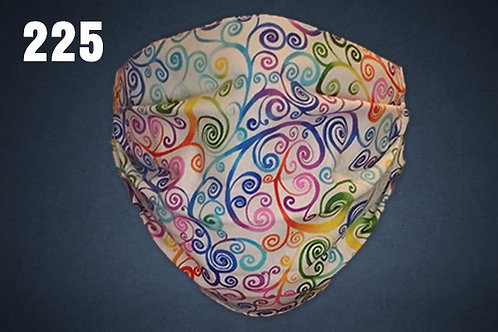 Rainbow Swirlies Face Cover