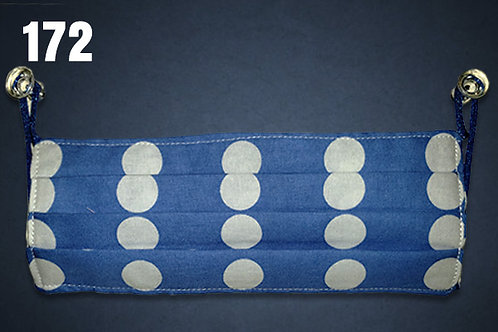 Blue and White Polka Dots Face Cover