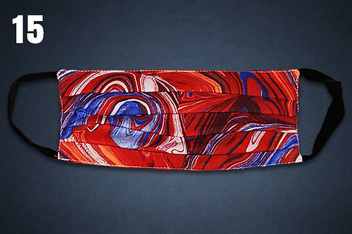 Red White & Blue Paint Swirls Face Cover